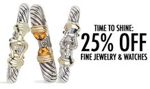 Time To Shine: 25% Off Fine Jewelry & Watches