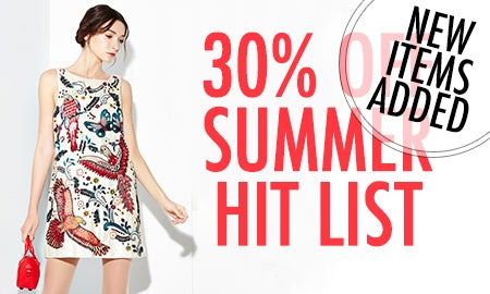 30% Off The Summer Hit List