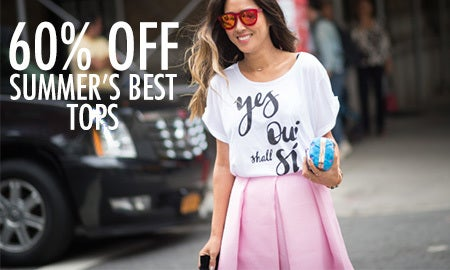 60% Off Summer's Best Tops
