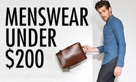 Menswear Under $200