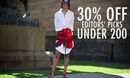 30% Off Editors' Picks Under $200