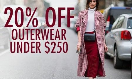 20% Off Outerwear Under $250