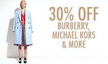 30% Off Burberry, Michael Kors & More