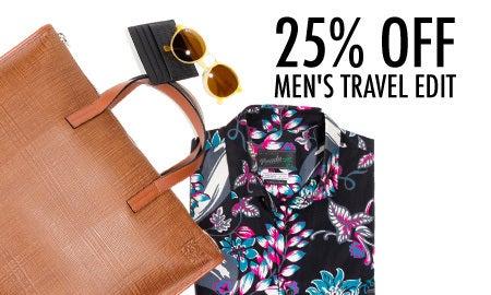 25% Off The Men's Travel Edit