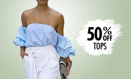 50% Off Tops
