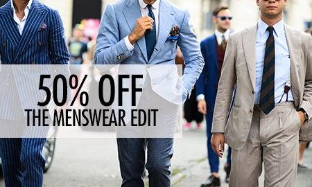 50% Off The Menswear Edit