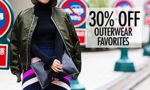 30% Off Outerwear Favorites