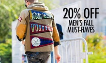 20% Off Men's Fall Must-Haves