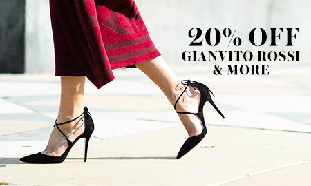 20% Off Jimmy Choo, Gianvito Rossi & More